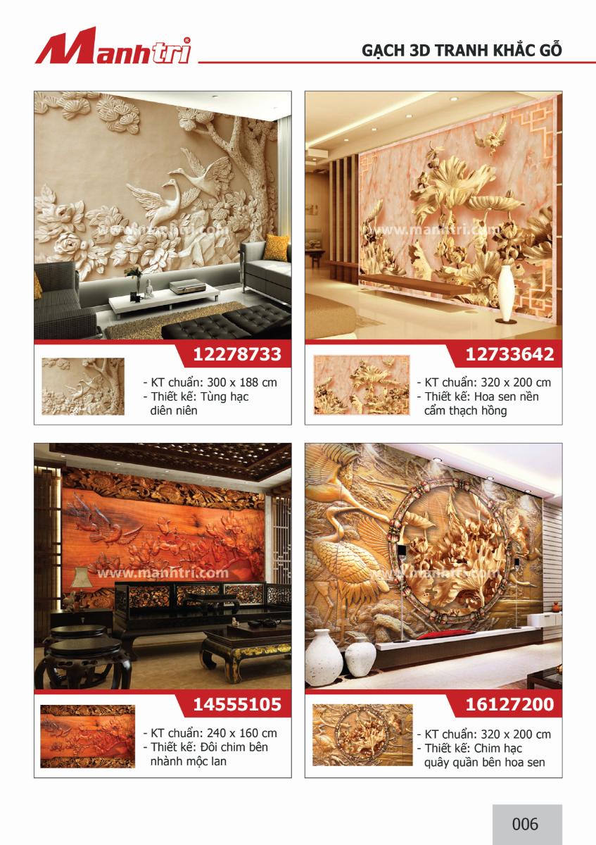 Tranh 3D khắc gỗ