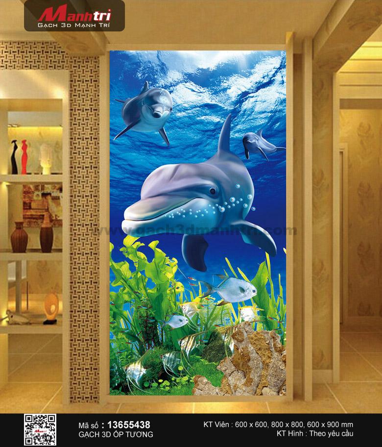 Đàn cá heo tinh nghịch phối cảnh