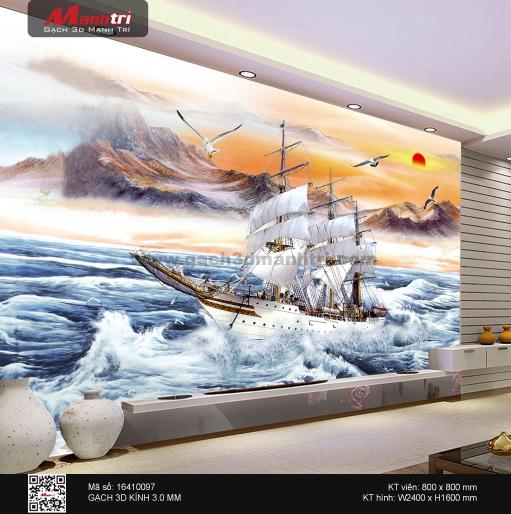gạch 3D, tranh 3D, thuận buồm xuôi gió