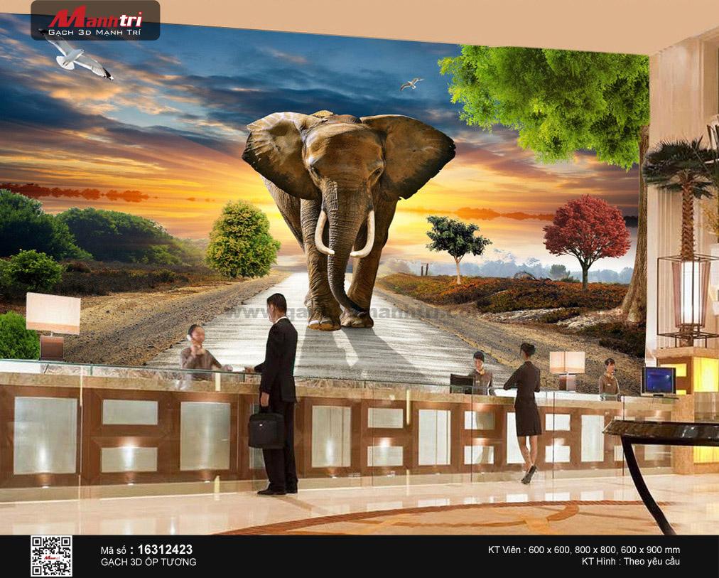 voi trong gach tranh 3d