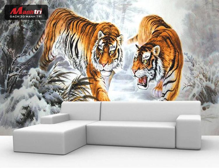 Top 5 mẫu tranh gạch 3D đẹp nhất giúp chiêu tài hút lộc cho gia chủ 8