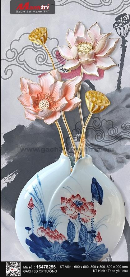 Bình hoa sen độc đáo