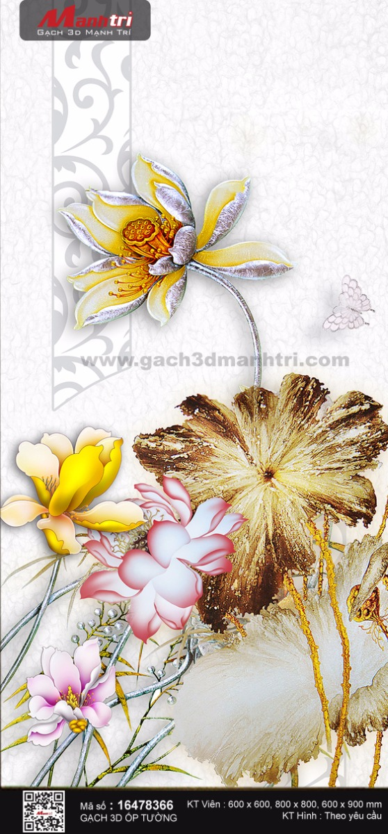 Hoa sen vàng lấp lánh
