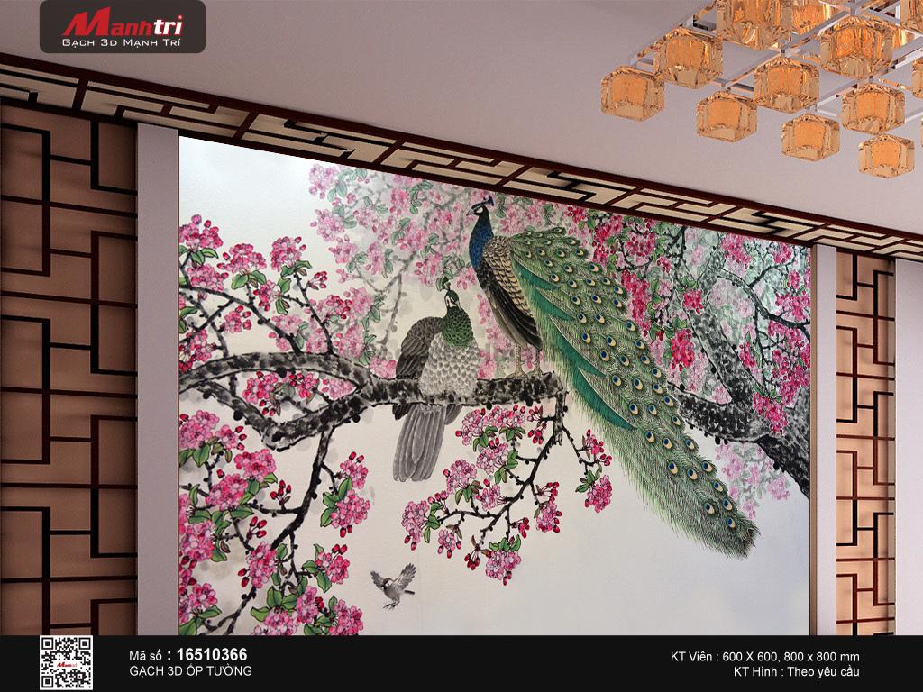 tranh gach 3d chim cong