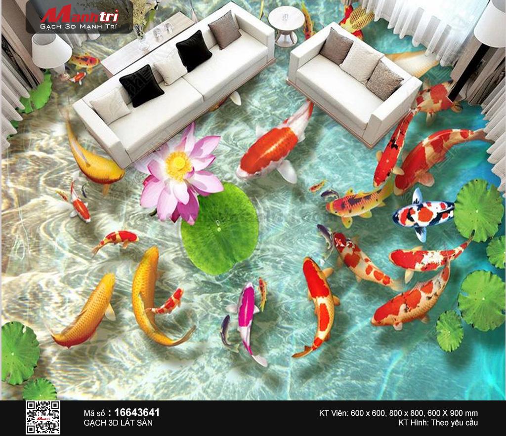 Đàn cá chép sung túc