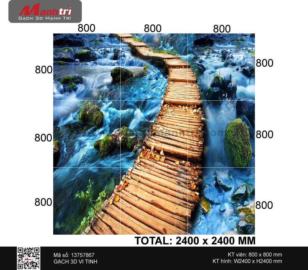 Gạch 3D suối thác