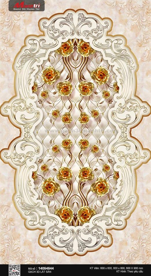 Họa tiết hoa hồng vàng sang trọng