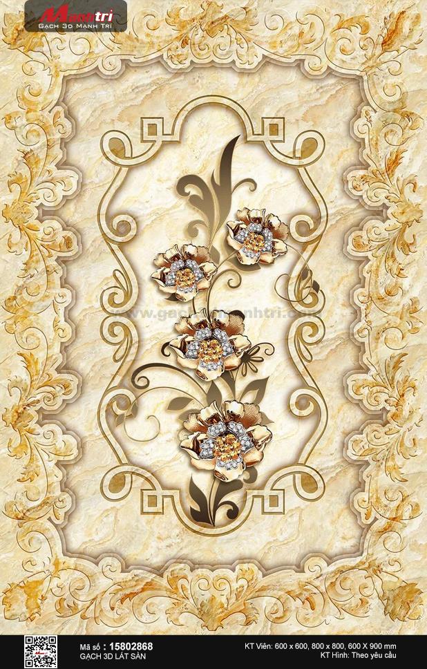 Họa tiết nhị hoa đính trang sức