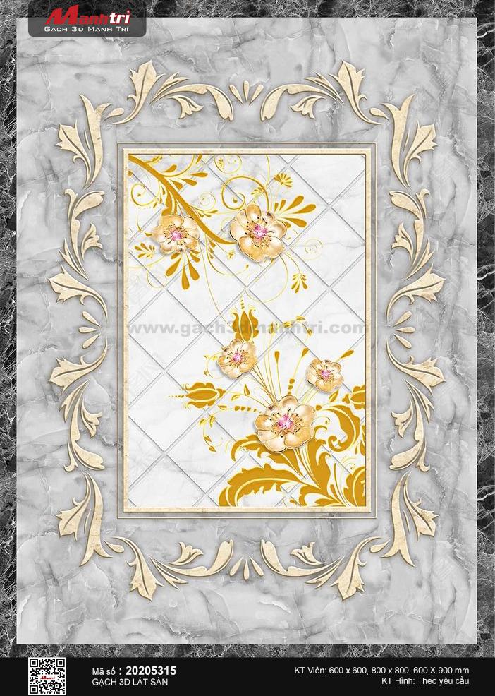 Họa tiết hoa vàng đính trang sức