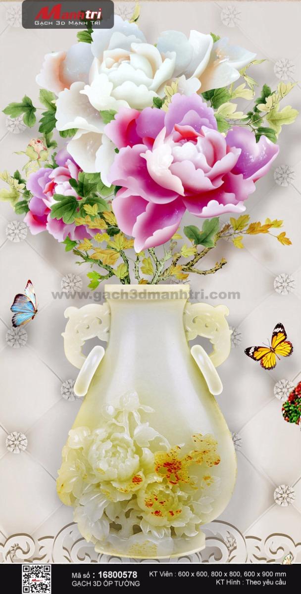Bình hoa mẫu đơn lộng lẫy
