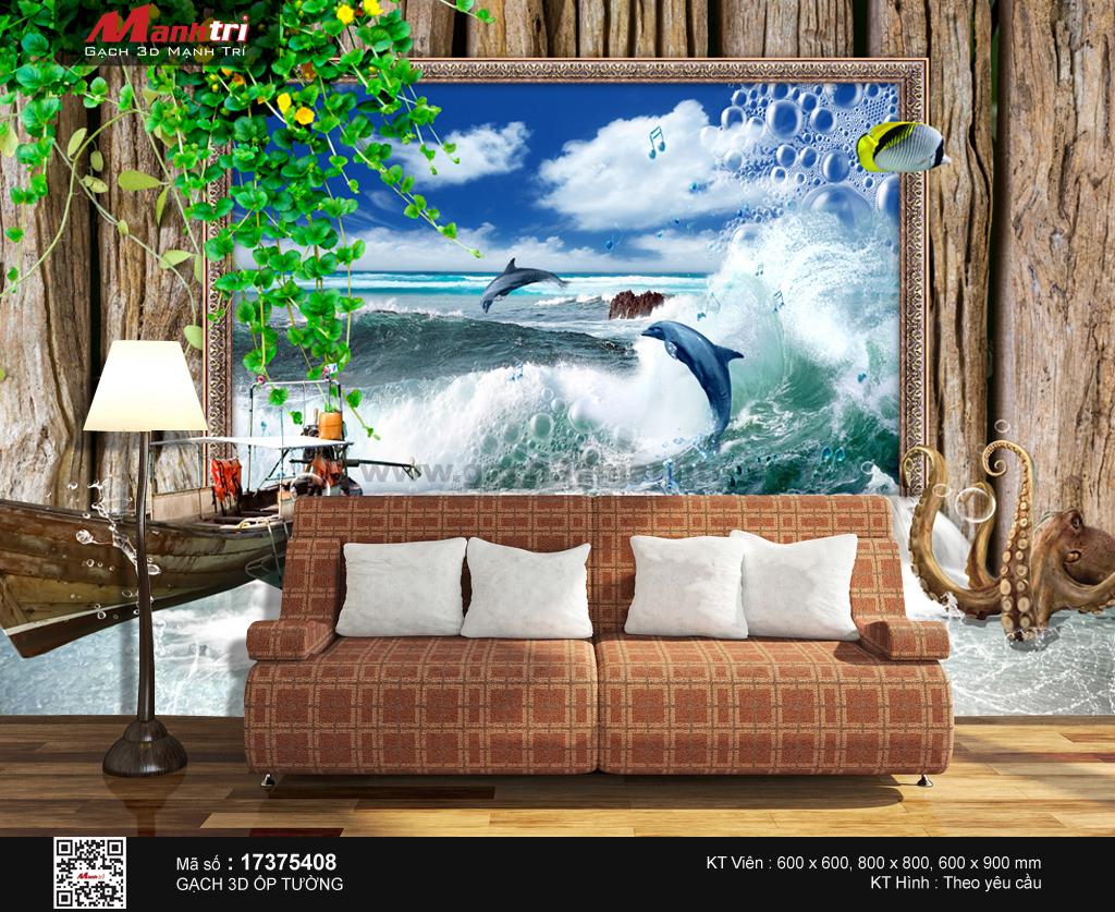 Cá heo vui đùa cùng sóng nước