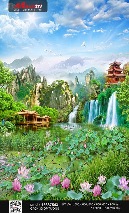 Nhà gỗ ven hồ sen đua nở