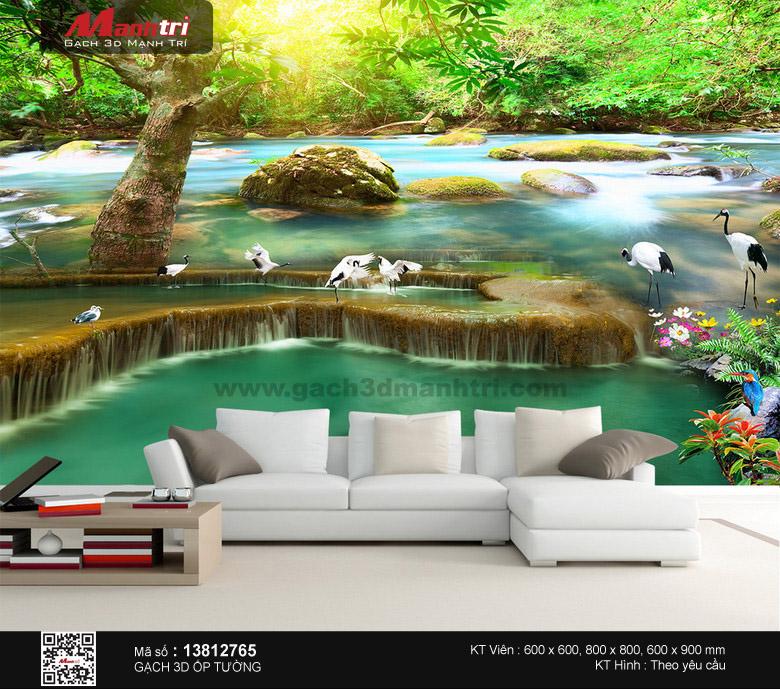 Đàn hạc trắng vui đùa bên suối xanh