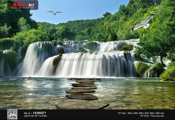 Hải âu bay trên đỉnh thác hùng vỹ