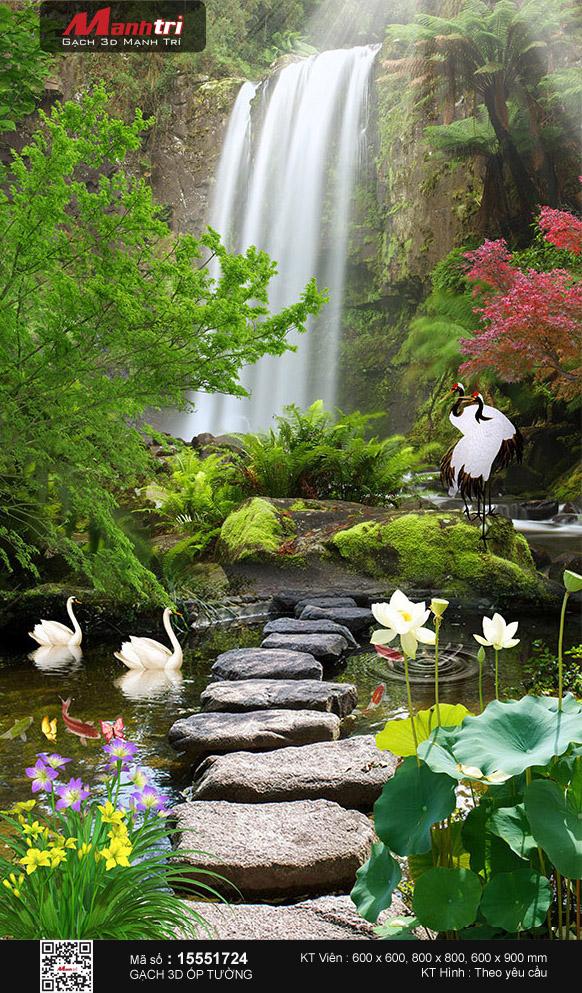 Cầu đá giữa cảnh đẹp nên thơ