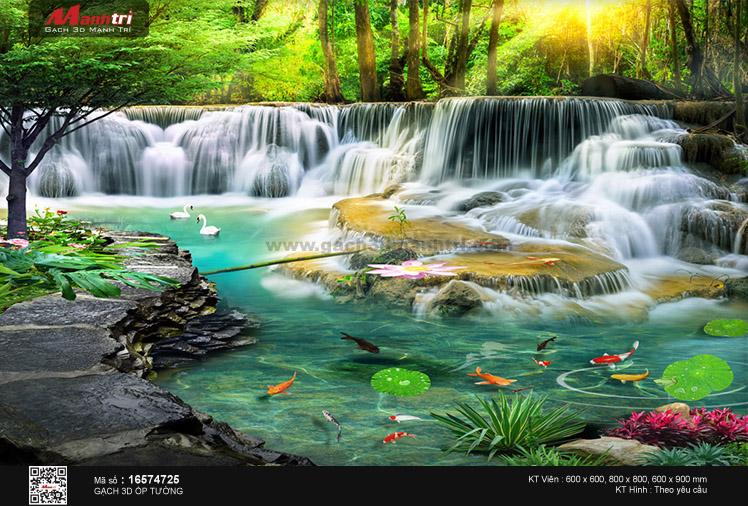 Cầu đá ven suối thác xanh