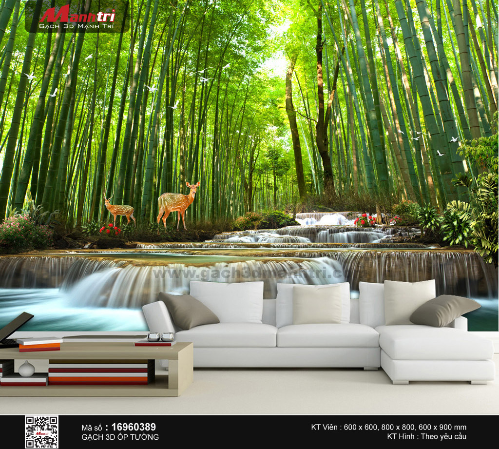 Suối thác trong rừng trúc