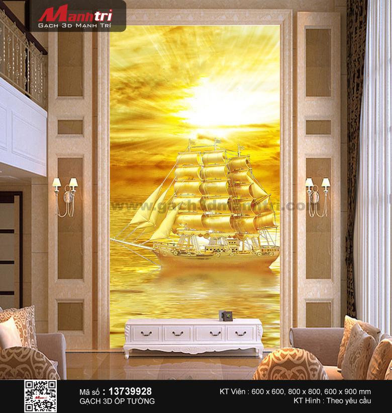 Con thuyền lộng lẫy giữa biển vàng