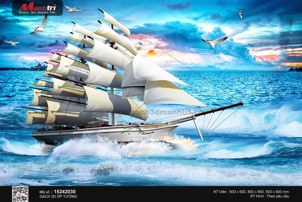Thuyền giữa biển khơi trong xanh