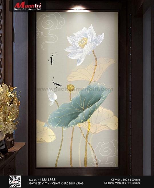 Hinh phoi canh 3d gach tranh hoa sen