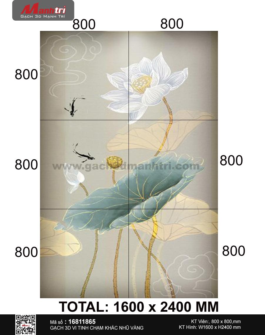 gach 3d hoa sen thanh khiet
