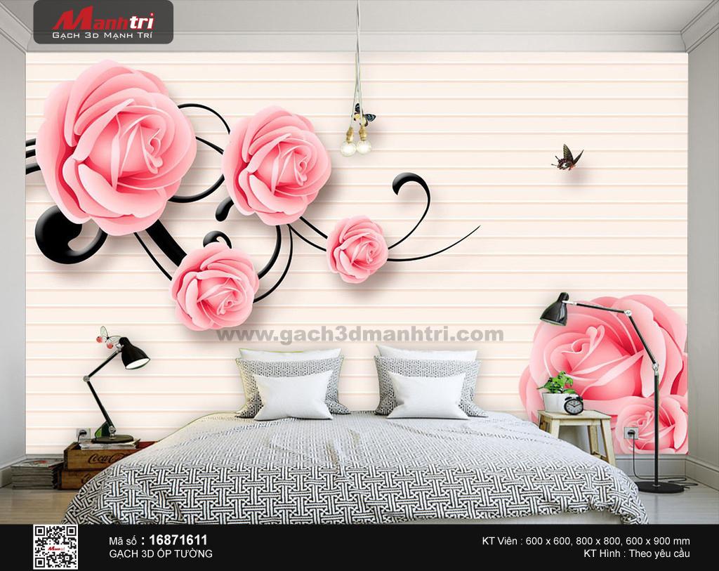 Hoa hồng bên cánh bướm dịu dàng