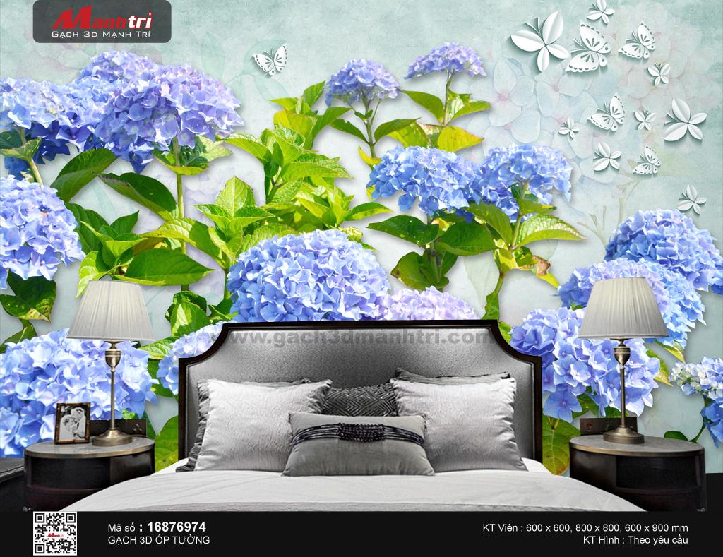 Hoa cẩm tú cầu màu xanh