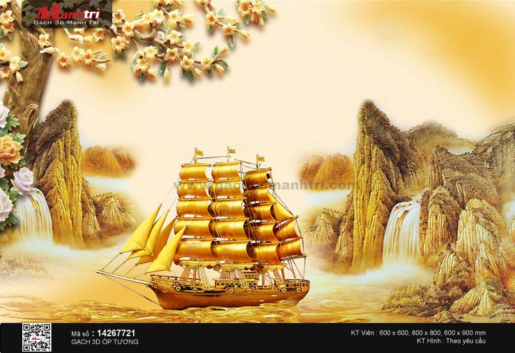 Thuyền vàng giữa thiên nhiên hùng vĩ