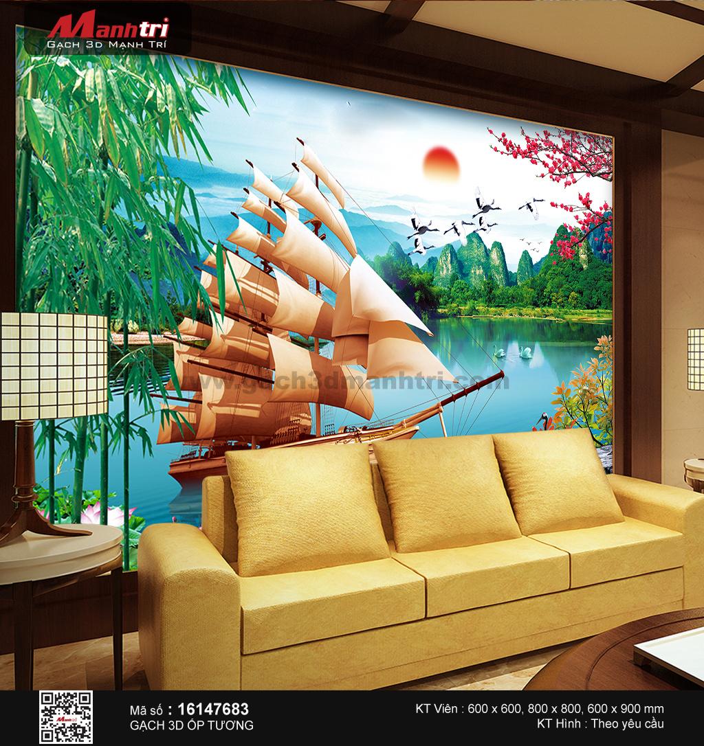 Con thuyền giữa sơn thủy hữu tình