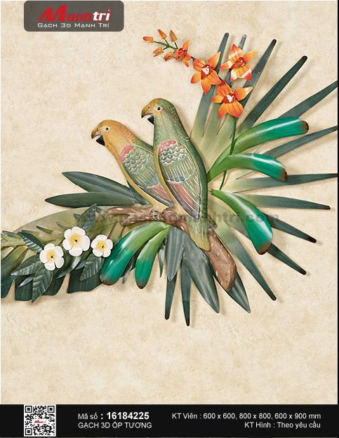 Đôi chim trên cội hoa