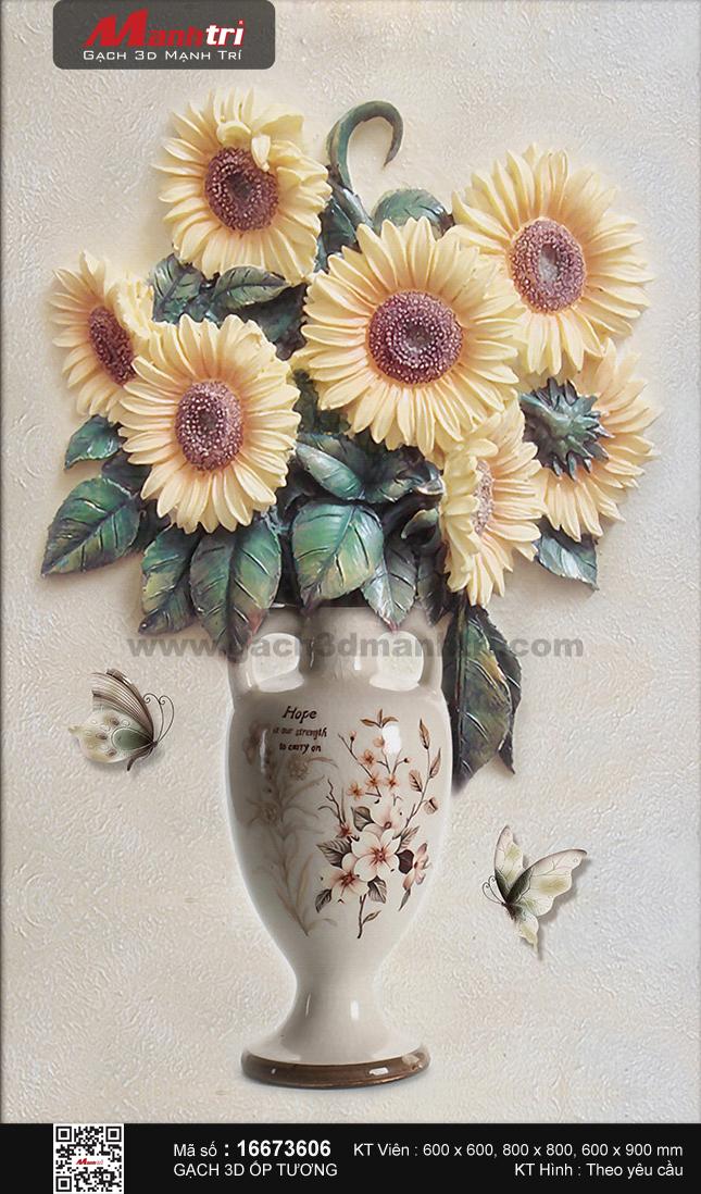 Bình hoa hướng dương tươi tắn