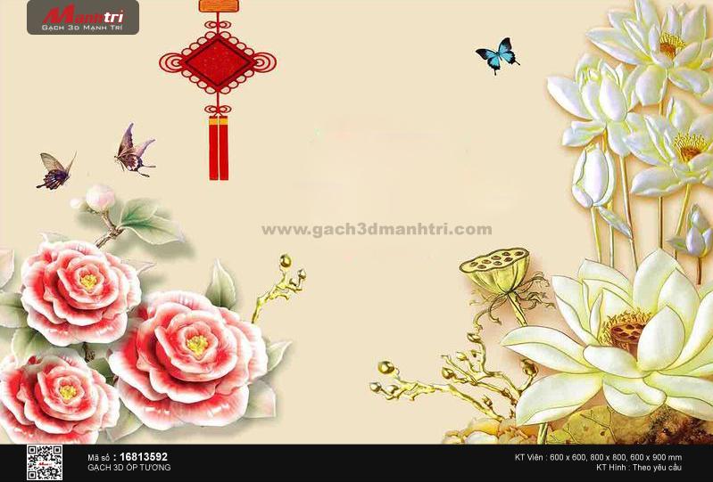 Hoa sen vàng bên cánh bướm