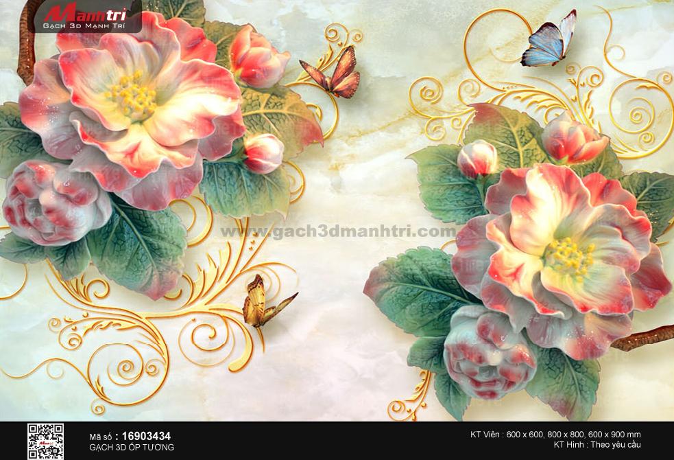 Bướm xinh vờn hoa đỏ