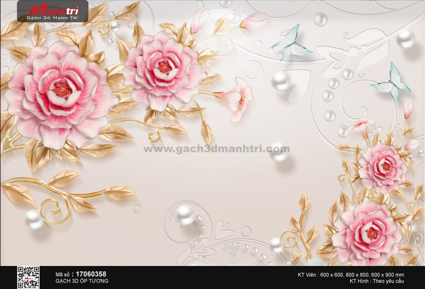 Hoa trà cách điệu nền trang sức