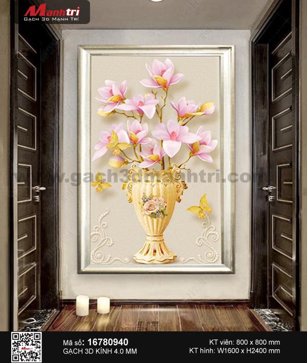 Gạch 3D bình hoa